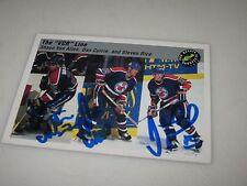 VAN ALLEN-CURRIE-KING AUTOGRAPHED 1993 CLASSIC HOCKEY CARD-VCR LINE 3 GRAPHS