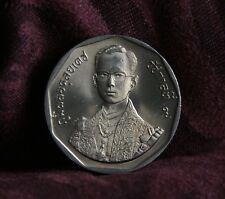 42nd Year Reign King Bhumibol Adulyadej 1988 Rama IX Thailand 5 Baht Coin Siam c