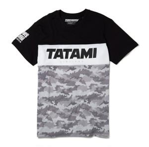 Tatami Tri Panel Camo T Shirt Jiu JItsu Tees Tops BJJ Clothing Casual Wear