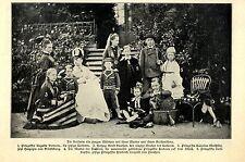 Die deutsche Kaiserin Auguste Victoria als junges Mädchen mit ihren Geschwistern
