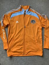 Adidas Mens Houston Dynamo Jacket XL Orange Soccer