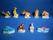 ICE AGE MELTDOWN 2006 Set of 9 Mini Figures FRENCH PORCELAIN FEVES Figurines