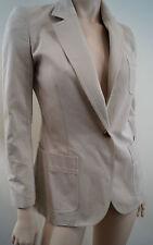 ANNA MOLINARI Cream Beige 100% Cotton Formal Summer Blazer Jacket I38; UK6 D32