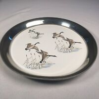 """Vintage Revere Pewter Serving Tray Geese 13"""" Across Water Resistant Hunting Tray"""