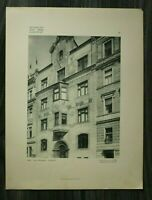 Jugendstil Architektur 1904 Prag Kgl Weinberge U Trznice F X Jirik +++ 31x40cm
