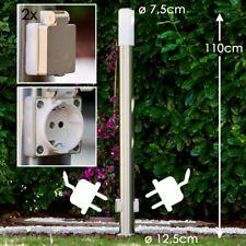 Aussenstehlampe mit 2 Steckdosen Edelstahl Wege Lampen Garten Aussen Stehleuchte