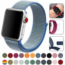 for Apple iWatch Series 6 SE 5 4 3 2 1 38/40/42/44mm Nylon WOVEN Sport Loop Band