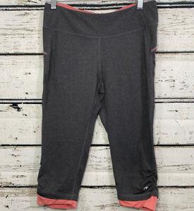 Champion Women's Gray/Pink Leggings Athletic Pants Capris Workout Medium