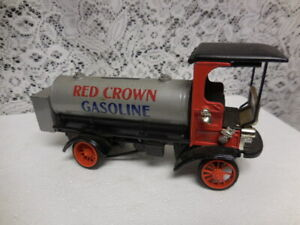 Vintage 1910 Mack Tanker Red Crown- Die Cast Coin Bank-ERTL-1766  toys
