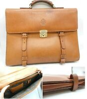 FiveWoods Briefcase Business Hand Bag Leather Hayashigo Camel Brown Made in JPN