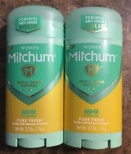 2x Mitchum Women 48 Hour Pure Fresh Invisible Solid Antiperspirant