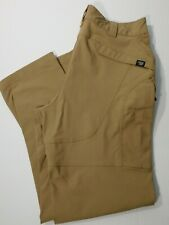 Massif Tactical Pants Men's 36x33 Darker Tan Flat Front Military Nylon Blend