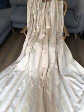 "Laura Ashley Curtains 84"" W x 87"" L Buttermilk/Yellow Stripe Pinch Pleat Blanket"
