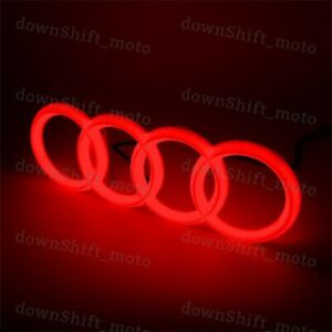 Red Audi A1 A3 A4 A5 A6 A7 Q3 Q5 Q7 Chrome LED Light Front Grill Emblem Badge
