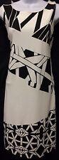 DESIGUAL By Christian Lacroix Black White Geometric Sleeveless Career Dress Lg