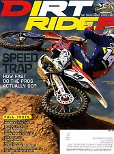 Dirt Rider Magazine May 2015 Speed Trap How Fast Do the Pros Actually Go?
