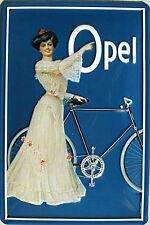 Opel - Fahrrad Blechschild, 20 x 30 cm, gewölbt & Motiv geprägt