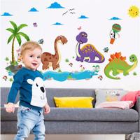 Cartoon Dinosaur Wall Sticker Nursery Kids Boys Room Animal Wall Decal Vinyl Art