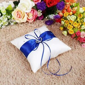 Wedding Bearer Holder Pillow Cushion With Bowknot Stain Double Home Use