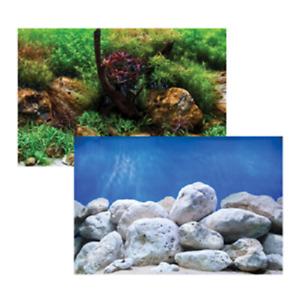 Aquarium  Background Double-Sided Fish Tank Decoration 30cm H