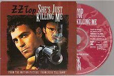 ZZ TOP she's just killing me CD SINGLE card sleeve