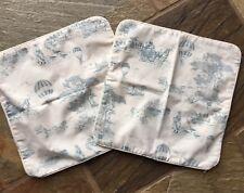 Vintage Laura Ashley Pair Cushion Covers - Circa 1980s - toile de jouy