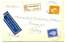 NEDERLAND 1947  REG COVER NAAR BATAVIA  FINE