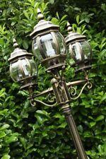 Candelabra outdoor lamp post IP 44 triple head garden path lighting decor 67903