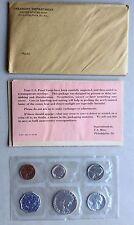 USA 1962 Proof Set Philadelphia in Umschlag Silber PP polierte Platte 1c-50c