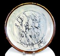 "GERALD NEWCOMB SIGNED NORTHWEST ART POTTERY ABSTRACT FLORAL LARGE 15.75"" PLATTER"