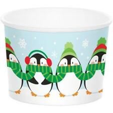 Penguin Treat Cups 6 Pack Winter Christmas Party Decoration
