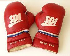 paire de gants de boxe  ancienne - Cuir Rouge - Gants d'entraînement - SDI