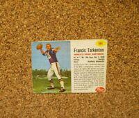 1962 Post Cereal Football #184 Fran Tarkenton (Minnesota Vikings) RC