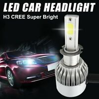 2PCS H3 200W 20000Lm LED Car Headlights Conversion Globes Bulb Beam 6500K Kit