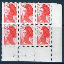 TIMBRE N° 2376  NEUF XX LUXE - COIN DATE DU 21-11-86 - LIBERTE DE GANDON