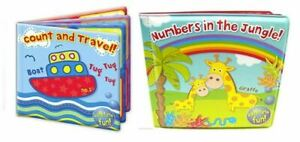 Bath Book Baby Bath time Fun Toy Educational Waterproof Kids Learning (Set of 2)