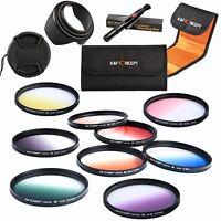 K&F Concept Professional 58mm 9pcs Graduated Colour Lens Filter Kit Accessories