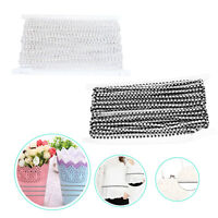 1m Double Sided Beads with Diamante Chain Trim for Cake Clothing Embellishment