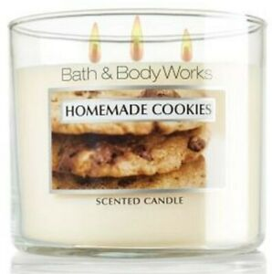 Bath Body Works🍪 HOMEMADE COOKES🍪 3 Wick  Candle 14.5 OZ SLATKIN Co 2012 RARE