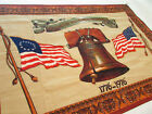 """Vintage American Bicentennial Celebration Wall Tapestry 1776 - 1976 """"40 x 59"""""""