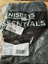 More details for nisbets essential chef trousers black size m