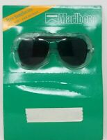 Vintage 1989 Marlboro Promotional Aviator Sunglasses - Black NIP