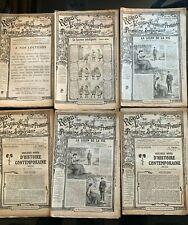 """7)Lot de 6 """"Revue de l'enseignement"""" primaire et Supérieur Années 1913 et 1914"""