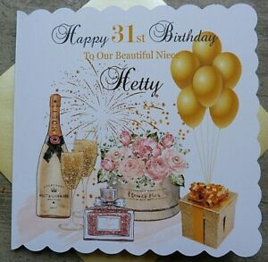 Personalised Handmade Birthday Card Champagne Moet  18th 21st 30th 40th 50th PP8