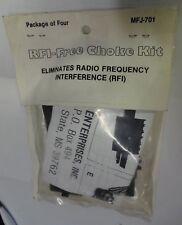 Ferrites RF1 CHOKE, PAQUET DE 4 , 420-0501, 420-0502 avec notice.
