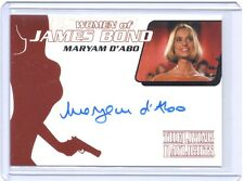 Women of James Bond Maryam D'Abo ( Kara Milovy ) autograph auto card #WA2