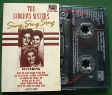 The Andrews Sisters Sing Sing Sing Cassette Tape - TESTED