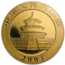 2005 1 oz Gold Chinese Panda Coin - Sealed in Plastic