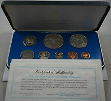 SOLOMON ISLANDS 8 Coins 1979 Proof Set with 2 Silver Crowns KM PS3