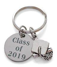 Class of 2019 Keychain with Graduation Cap Charm, Keychain for Graduate